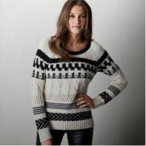 American Eagle Chunky Knit Nordic Pattern Sweater